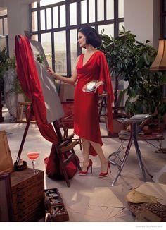 Eva Green Has Us Seeing Red in the 2015 Campari Calendar