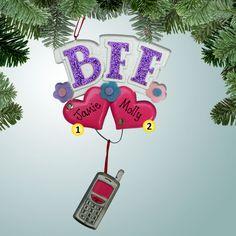 PersonalizedFree.com - BFF Personalized Christmas Ornament, $11.99 (http://personalizedfree.com/bff/)