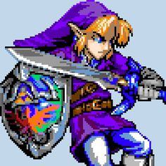 pixel art Hip link! (Extra Polished shield!) by Aetherpix piq