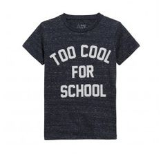 Little Eleven Paris Mess T-shirt Navy Melanged Too Cool for School
