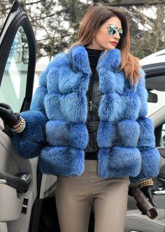 2015 Blau Royal Saga FOX Fuchs Fuchsjacke Pelz WIE Silber Jacke Chinchilla Nerz | eBay