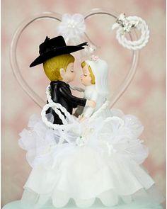 Western Cowboy Lasso Wedding Cake Topper