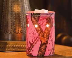 "Scentsy Premium Warmer ""Mossy Oak Break-Up PINK"". Camouflage goes all-girl with Mossy Oak's Break-Up pattern of leaves, acorns, and branches on a hot pink base. Camo Bathroom, Camo Rooms, Pink Mossy Oak, Pink Camouflage, The Ranch, My New Room, Country Girls, Country Life, Country Style"