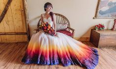 This airbrushed wedding gown is all kinds of gorgeous | JAMES TANG PHOTOGRAPHY