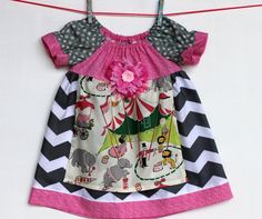 Chevron Circus Apron  Dress by WildOliveKids on Etsy, $35.00