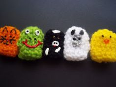 """I have got the crochet bug! These fun finger puppets were fast and easy to crochet. I made seven sets for a """"busy bag"""" exchan..."""