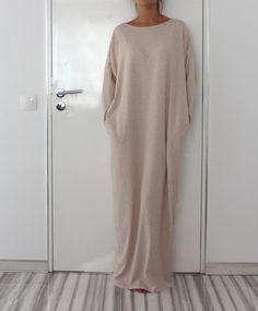 Light Beige oversized plus size elastic by cherryblossomsdress. For Dubai.