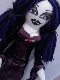 Lillith Blackhart - part of the asylum collection handmade by me ^.^ see more of my dolls @ www.asylumofbrokendolls.com or find us on Facebook @ https://www.facebook.com/Brokendollasylum