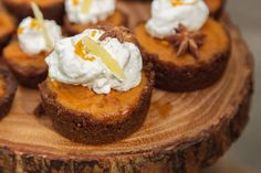 Add some flare to your pumpkin pie by making individual sized desserts with a spiced gingersnap crust and cinnamon whipped cream. Dare you to try!