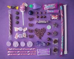 A series of colour coordinated candy photographs...  PURPLE