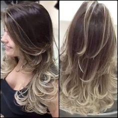 64 New Ideas Hair Balayage Blonde Boliage Como Fazer Ombre Hair, Cabelo Ombre Hair, Ombre Hair With Highlights, Ombre Hair Color, Brunette Highlights, Best Purple Hair Dye, Boliage Hair, Grey Hair And Makeup, Hair Color Caramel