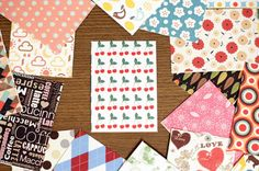 48pcs Pattern Label Sticker Set