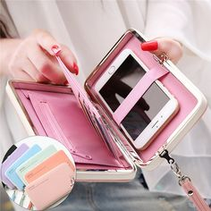 Universal 5.5 Inch High Heels Functional Phone PU Wallet Case Cover For Xiaomi…