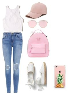 """Summer"" by mariap-r on Polyvore featuring moda, Frame, Hollister Co., Versace, LMNT, The Casery y Sole Society"
