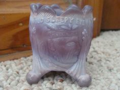 Old Sleepy Eye Toothpick Holder Lavendar Purple Glass Arrowhead Old | eBay