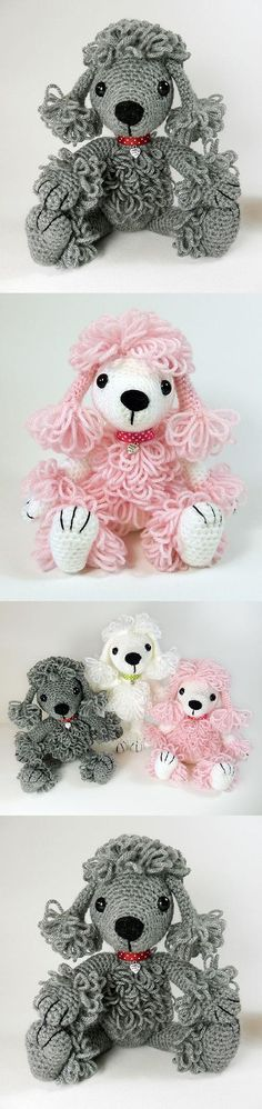 Pandora The Poodle Amigurumi Pattern Cute Crochet, Crochet Crafts, Crochet Toys, Crochet Baby, Crochet Projects, Knit Crochet, Amigurumi Patterns, Knitting Patterns, Crochet Patterns