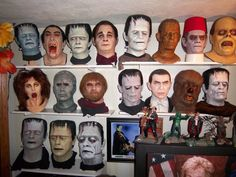 some of my mask collection. - DANIEL HORNE'S MONSTER SHOW