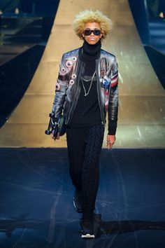 Between The Avengers and Batman v Superman: The Dawn of Justice, superheroes are in high demand, so it's no surprise that designer Philipp Plein looked to the Marvel and DC universes for inspiration. However, given Plein's dark streetwear aesthetic, perhaps he should have focused on the villains. Dressed in head to toe black, often topped...[ReadMore]