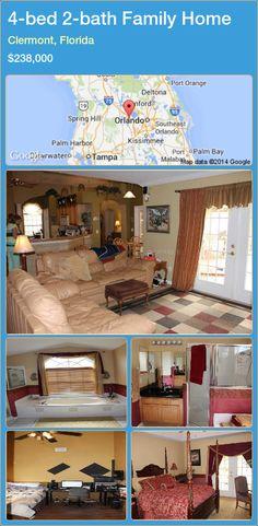 4-bed 2-bath Family Home in Clermont, Florida ►$238,000 #PropertyForSaleFlorida http://florida-magic.com/properties/55984-family-home-for-sale-in-clermont-florida-with-4-bedroom-2-bathroom