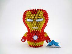 Origami - Iron Man - The Avengers Origami 3d, 3d Origami Tutorial, Origami Modular, Samurai, Origami Diagrams, Quilling Art, Paper Folding, Kirigami, Iron Man