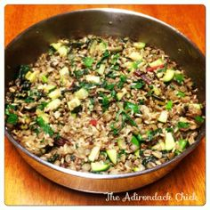 Swiss Chard with Sprouted Green Lentils & Wild Rice   The Adirondack Chick