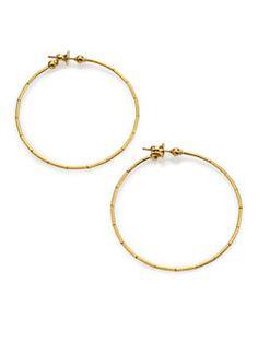 GURHAN - Rain 24K Yellow Gold Hoop Earrings/2