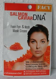 Facy Salmon Caviar Dna Face Eye & Neck Mask Cream 10 g. [Pack 2] by Facy. $20.50. Mask on face under eyes and neck. Rub in circle unit the nutrients beads are all dissolved and leave on for 15 minutes or until all mask cream has penetrated into skin. Wash off and put on moisturizer.