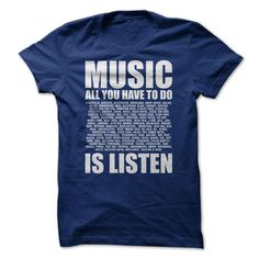 nice  Listen to Music  Check more at http://plaintee.top/name-tshirts-coupon/who-sells-listen-to-music-order-now.html