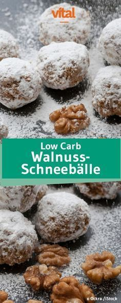 Rezept Low Carb Walnuss Schneebälle You want to stick to a low-calorie diet during the Christmas season? Our recipe for low carb walnut snowballs comes. Low Glycemic Diet, Low Calorie Diet, No Calorie Foods, Low Carb Desserts, Low Carb Recipes, Diet Recipes, Dessert Recipes, Low Carb Biscuit, Cookies Et Biscuits
