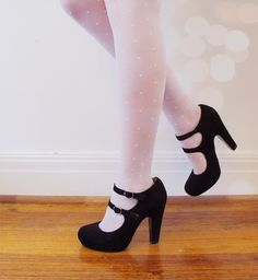 Charlotte Mary Jane Heels #black #kinderwhore #maryjanes