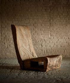 The Salon: Art + Design 2016 Jose Zanine Caldas, early Log Furniture, Furniture Design, Office Interior Design, Interior Decorating, Design Simples, Japanese Interior, Chair Design, Floor Chair, Decoration