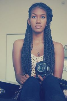 long styled two-strand twists - Google Search