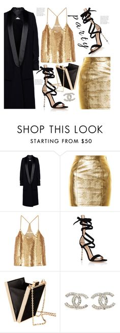 """New Year's Eve Style "" by hattie4palmerstone ❤ liked on Polyvore featuring Maison Margiela, Yves Saint Laurent, TIBI, Gianvito Rossi and Chanel"
