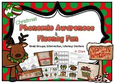 Keep skills sharp throughout the holidays. This fun Christmas pack includes several activities to use this season to help keep students motivated when teaching them foundational reading skills.   Great to use in whole group, small group, one-on-one settings, intervention groups, literacy centers, etc.