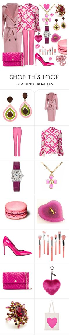 """""""Something pink 2"""" by ellenfischerbeauty ❤ liked on Polyvore featuring Toolally, Gucci, Derek Lam, Cartier, Chanel, Yves Saint Laurent, Dolce&Gabbana, Bdellium Tools, Lanvin and Helen Moore"""