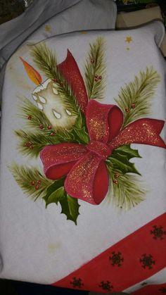 Ideas for vintage christmas art navidad Christmas Rock, Christmas Sewing, Christmas Candles, Vintage Christmas, Christmas Crafts, Christmas Ornaments, Christmas Fabric, Pink Christmas Decorations, Tole Painting Patterns