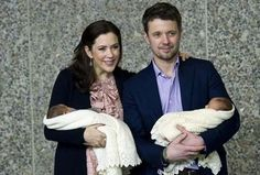 Princess Mary of Denmark and her husband Frederik, son of the Queen Margrethe II, have boy and girl twins, they were born on 8th of January 2011.