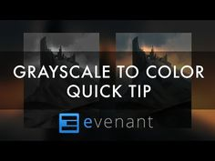 Grayscale To Color - Digital Painting Tutorial - Concept Art - YouTube
