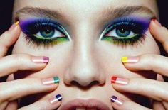 crazy makeup looks | ... crazy party wear eye makeup stylish and crazy multi shades party wear