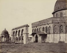 Jerusalem. Western part of the Mosque of Omar, april 1, 1862