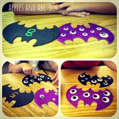 Eyeballs and bats....oh my! I found some foam bats at Michael's and wanted to make a fun matching game out of them. I was trying to think...