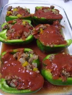 Paleo Stuffed Green Peppers