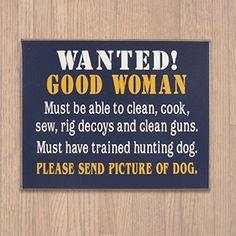 Good Woman Hunting Wooden Sign, Man Den Home Décor, Novelty Pub Wall Plaque