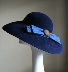 Andrea Neville-Rolfe is a Dorset based milliner who creates hats and headpieces for the discerning, romantic woman looking for the personal touch. Large Brim Hat, Romantic Woman, Headpieces, Looking For Women, Cowboy Hats, Navy, Fabric, Beautiful, Fashion