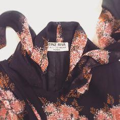 Heinz Riva silk printed dress det Lerario Lapadula fashion archives  #altamoda #museo #fashion #museum #history
