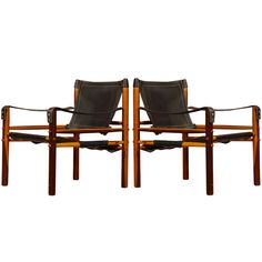 1stdibs | Arne Norell Rosewood Safari Lounge Chairs