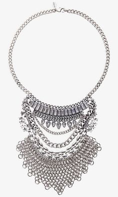 Luxe Gifts: Layered Stone And Chain Mail Bib Necklace
