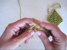 DROPS Knitting Tutorial: How to knit domino knit
