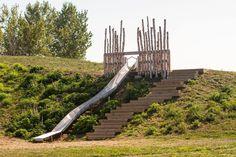 Preschool Playground, Playground Slide, Natural Playground, Outdoor Play, Outdoor Living, Garden City Park, Park City, Natural Play Spaces, Cool Playgrounds