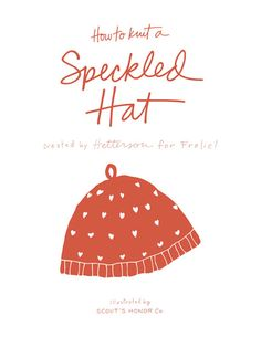 Free Knitting Pattern for a Speckled Hat by Henderson for Frolic